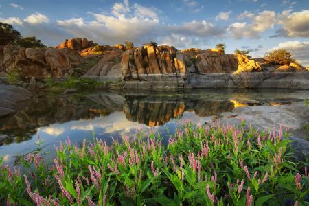 亚利桑那州,普雷斯科特,沃森湖,亚利桑那州,美国,湖