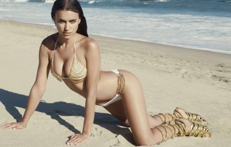 女孩,伊琳娜谢赫,伊琳娜摇,海滩,姿势,身体,比基尼,牧师,屁股,屁股,海,沙,胸