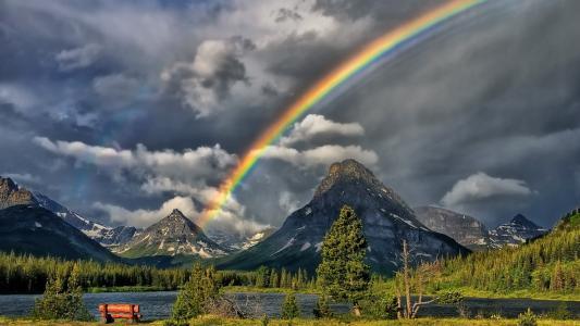 彩虹,壁纸
