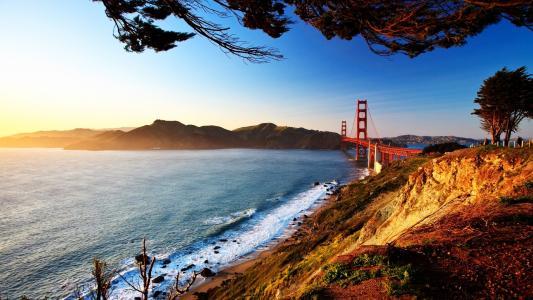 旧金山,桥梁,景观,壁纸