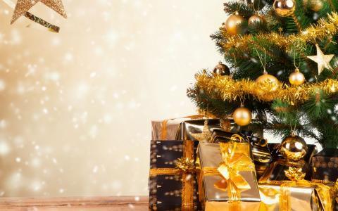 圣诞节,树,壁纸