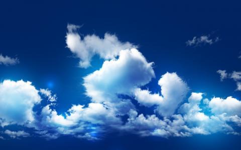 天空,和,云,壁纸