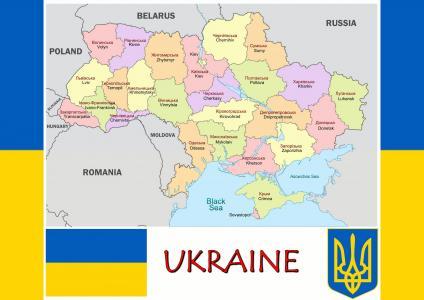 乌克兰,地图,国旗,徽章