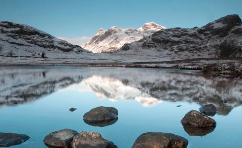 景观,山,湖,湖区,英格兰