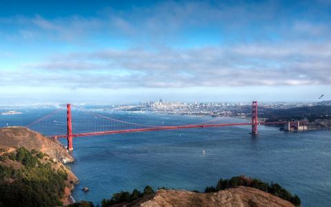 金门大桥,水,旧金山,城市的看法