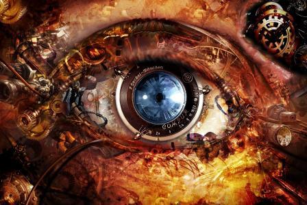眼睛,镜头,机制