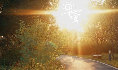 早安迷人的晨曦景色