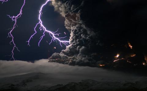 风暴,闪电,云彩