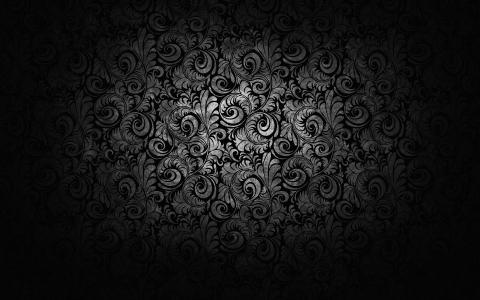 纹理,图案,装饰,黑色和白色