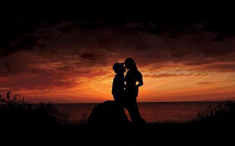 感觉,关系,家伙,女孩,夫妇,激情,爱情