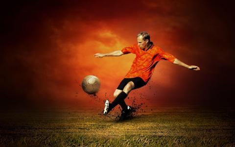 足球,播放机,壁纸