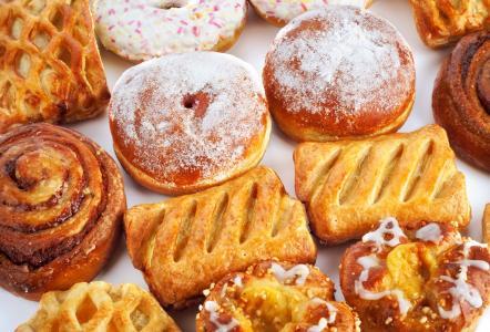 甜甜圈,小圆面包,糕点,小圆面包