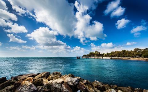 北斯特德布鲁克岛,昆士兰,澳大利亚,澳大利亚,海洋