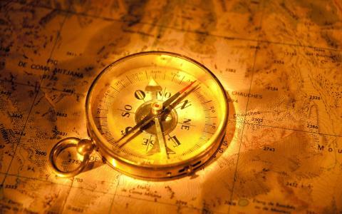 地图,指南针