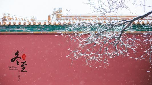 冬至时节下雪美景