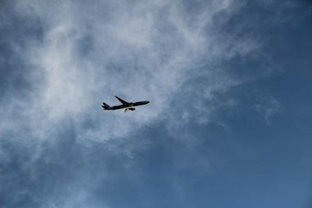 蓝天上的飞机