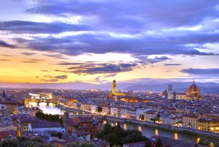 黄昏下的佛罗伦萨