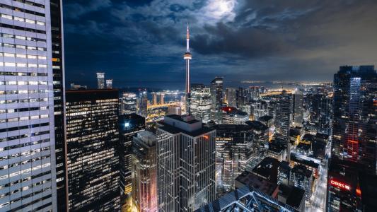 夜晚的加拿大美景