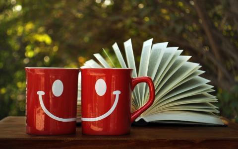 创意,杯子,打开,书
