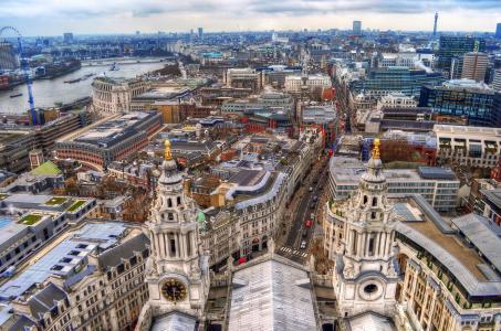 伦敦,英国,全景,建筑,伦敦,英格兰