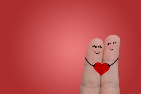 手指,心脏,笑脸