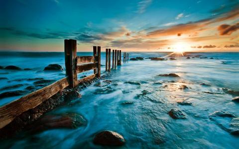 时间,完了,海洋,壁纸