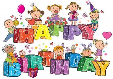 童年,生日,祝贺