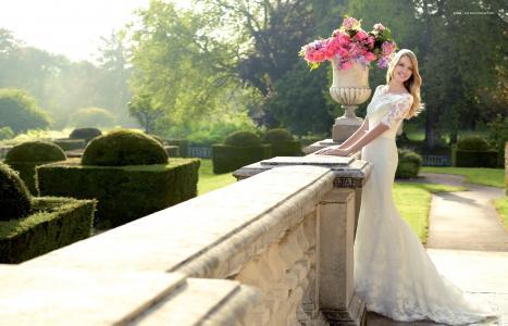 Lindsay Ellingson,模特,新娘,微笑,假期,婚礼,礼服,欢乐