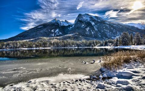 冬季,风景,壁纸