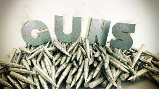 武器,金属,枪支,弹药筒,烟雾