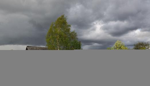 村庄,恶劣天气,云彩,风,小屋