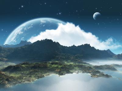 月亮,云,天空,景观