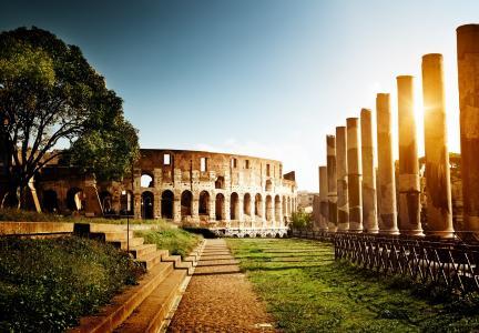 意大利,斗兽场,罗姆,罗马,意大利,体育馆