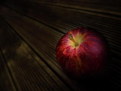 苹果,成熟,板