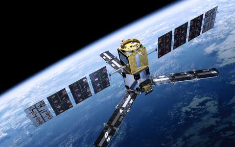 卫星,地平线,地球,站