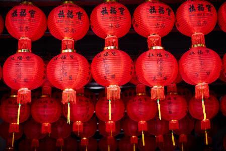 元宵节喜庆红灯笼