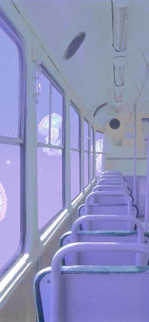 梦幻公交车唯美意境