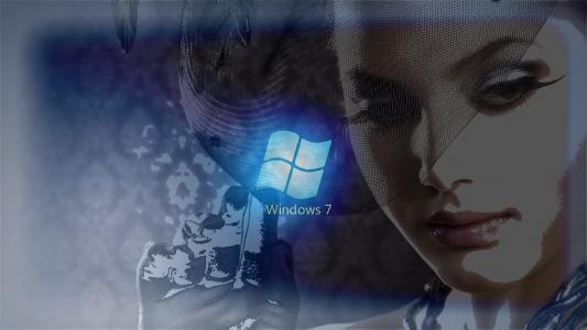 窗口,七,女孩,女性,创意,美丽,女孩,操作系统,7,桌面,壁纸,爱情