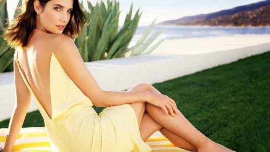 Smulders,黄色,连衣裙,壁纸