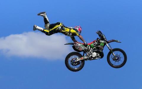 运动,摩托车,跳跃