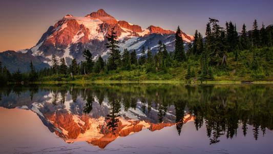 湖,倒影,风景,壁纸