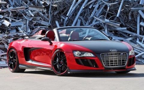 奥迪,R8,汽车,红色,废金属