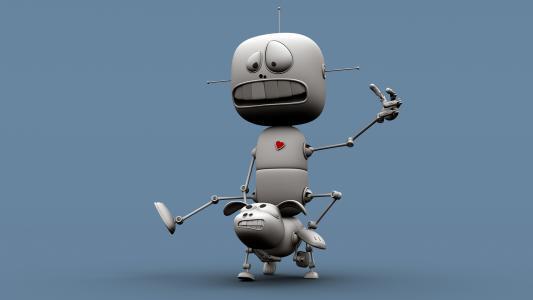 好笑的是,机器人,壁纸