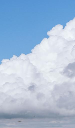 蓝天上的唯美云彩