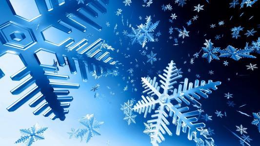 铁雪花,旋风,雪花,蓝色