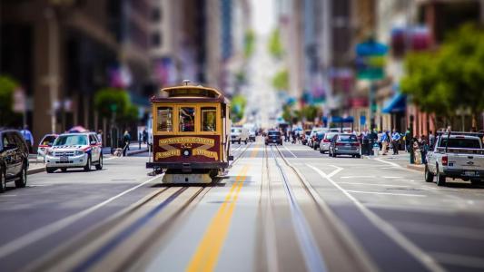 旧金山,复古,电车,壁纸