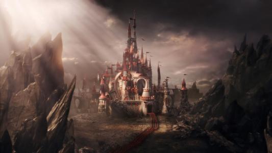爱丽丝梦游仙境,城堡,军队,童话故事