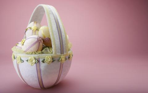篮子,鸡蛋,布
