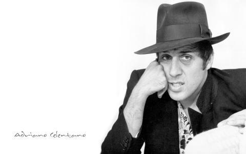 阿德里亚诺Celentano,演员,音乐家,歌手,帽子,阿德里亚诺Celentano