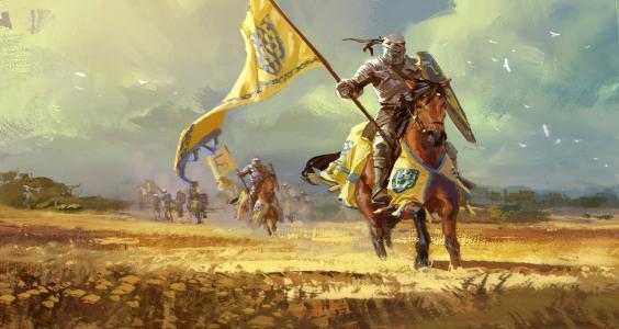 欧洲中世纪骑士绘画
